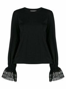See By Chloé lace trim T-shirt - Black
