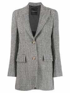 Ermanno Scervino rock stud tweed blazer - Black