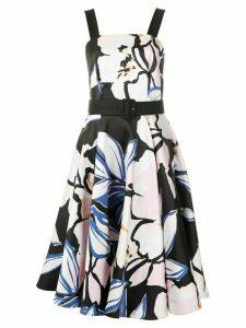 Tufi Duek floral print belted midi dress - Multicolour
