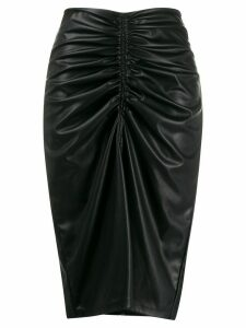 8pm ruched midi skirt - Black