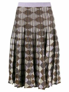 Baum Und Pferdgarten geometric print pleated skirt - Purple