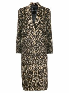 Ermanno Scervino single-breasted leopard coat - Black