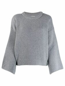Fine Edge bell sleeve sweater - Grey