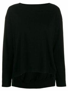 Zucca side slit sweater - Black