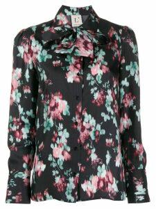 L'Autre Chose floral print shirt - Black
