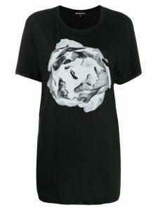 Ann Demeulemeester contrast print T-shirt - Black