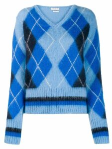 Ballantyne argyle knit jumper - Blue