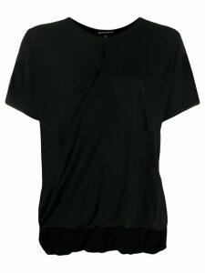 Ann Demeulemeester draped hem T-shirt - Black