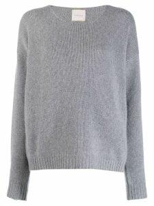 Fine Edge boyfriend crew neck sweater - Grey