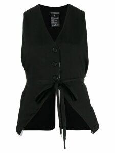 Ann Demeulemeester tie-waist waistcoat - Black
