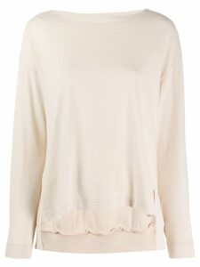 Zucca side slit knitted top - Neutrals