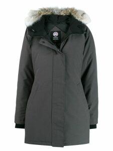 Canada Goose fur-trimmed hood coat - Grey