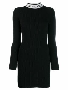Ck Calvin Klein logo collar dress - Black