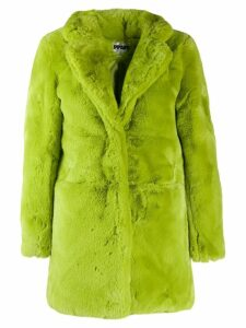 Apparis faux-fur midi coat - Green
