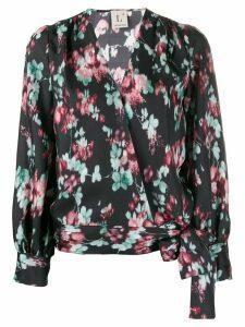 L'Autre Chose floral print tie blouse - Black