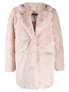 Apparis faux-fur midi coat - Pink