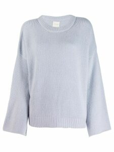 Fine Edge bell sleeve sweater - Blue