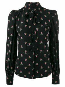 Marc Jacobs floral long-sleeve blouse - Black