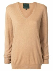 Jejia v-neck oversized sweater - Brown