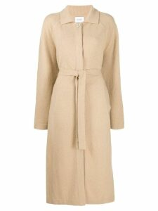 Barrie belted midi coat - Brown