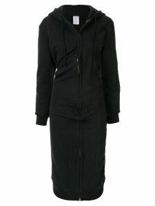 Vaquera zipped hoodie dress - Black