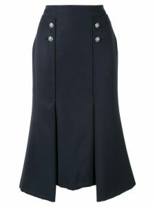 ALEXANDER MCQUEEN flared skirt - Blue