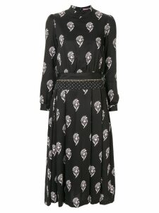 Sueundercover printed midi dress - Black