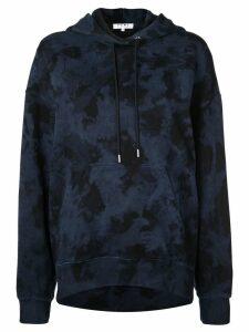 Proenza Schouler PSWL Ink Blotch Hooded Sweatshirt - Blue