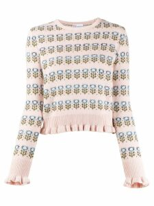Red Valentino 'RED Valentino' floral knitted jumper - Pink