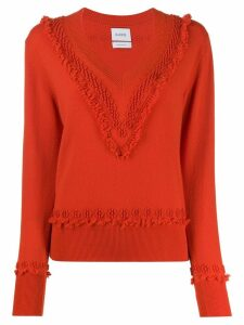 Barrie raised knit jumper - Red