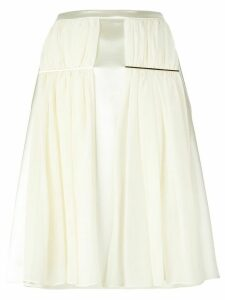 Christopher Kane ruched detail skirt - White