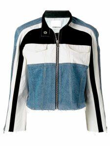 Ground Zero contrast panelled denim jacket - Blue