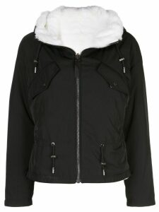 Yves Salomon Army cropped hooded parka - Black