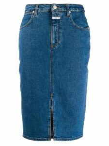 Closed high waisted denim skirt - Blue