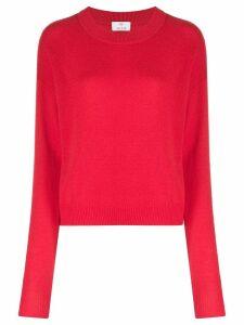 Allude crew neck jumper - Red