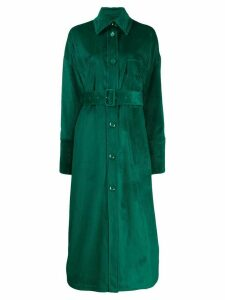 Christian Wijnants Caja corduroy belted coat - Green
