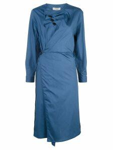 Sea Louise waist-button dress - Blue