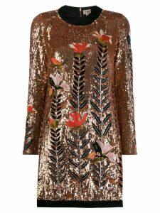 Temperley London Magnolia sequin dress - Neutrals
