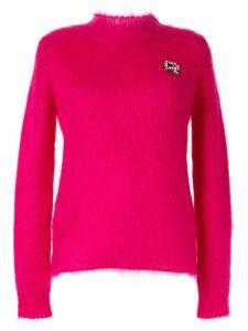 Rochas embellished knitted jumper - Pink