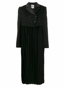 Comme Des Garçons Noir Kei Ninomiya pleated double breasted coat -