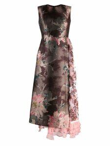 Antonio Marras floral patchwork dress - Brown