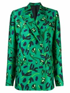 Christian Wijnants Jula floral-print tailored blazer - Green