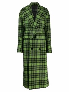 Christian Wijnants Cela check print coat - Green