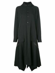 Yohji Yamamoto hooded shirt dress - Black