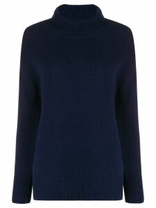 Allude roll neck jumper - Blue