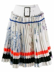 Chopova Lowena belted pleated skirt - White