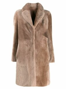 Blancha faux fur reversible coat - Pink