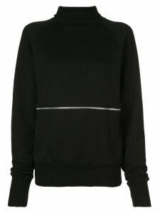 Y's zip-front sweatshirt top - Black
