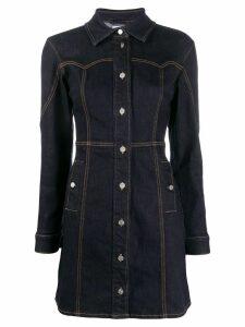 Ganni fitted denim shirt dress - Blue