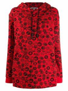 McQ Alexander McQueen graphic print hoodie - Red